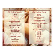 Beach Wedding Program:  Multicolored Seashell 2 Flyer