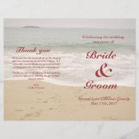 Beach Wedding Program:  Sandy Beach