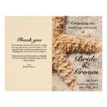 Beach Wedding Programs:  Starfish in Sand Flyer Design