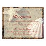 """Beach Wedding Reception Card 4.25"""" X 5.5"""" Invitation Card"""