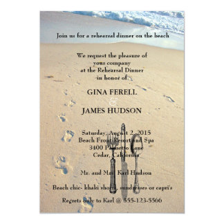 Beach Wedding Rehearsal Dinner Invitation