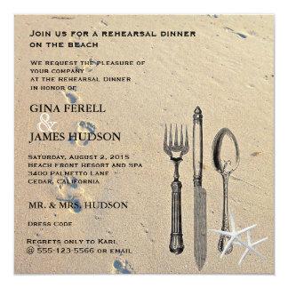 Beach Wedding Rehearsal Dinner Invitation