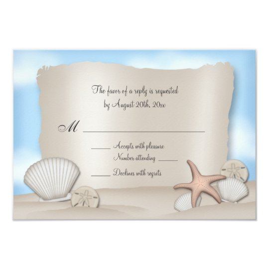 Beach Wedding Reply Cards