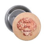 Beach Wedding Ring Bearer Button