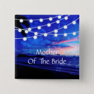Beach Wedding Romance Glowing Lights Button