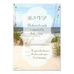 Beach Wedding Rsvp Card at Zazzle