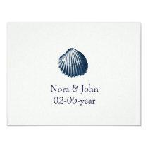beach wedding RSVP Card