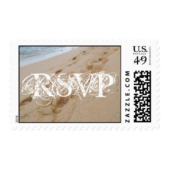 Beach Wedding RSVP Postage