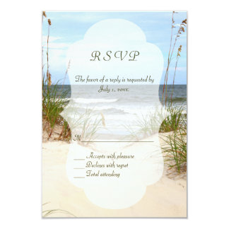 Beach Wedding RSVP's 3.5x5 Paper Invitation Card