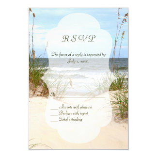 Beach Wedding RSVP's Card