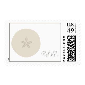 Beach Wedding Sand Dollar RSVP Postage Stamps