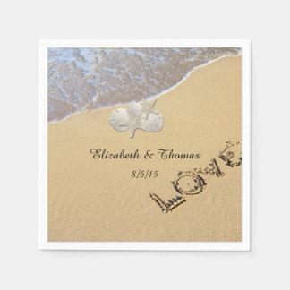 Beach Wedding, Sand Dollar, Starfish Napkins