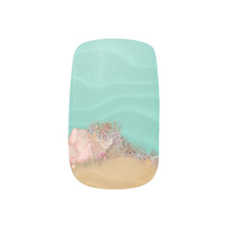 Beach Wedding Sandy Shore Wedding Minx® Nail Art