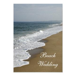 "Beach Wedding Save the Date Announcement 5"" X 7"" Invitation Card"