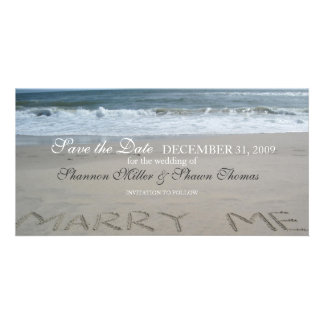 Beach Wedding Save the Date Announcement Photo Greeting Card