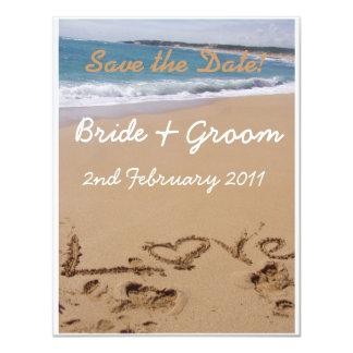 Beach Wedding - Save the Date! Card
