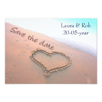beach wedding Save the date Card