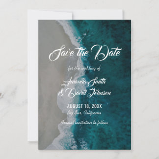 Beach Wedding Save The Date Cards