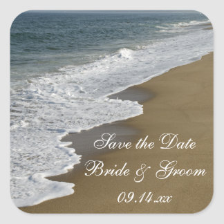 Beach Wedding Save the Date Envelope Seals