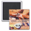 Beach Wedding Save the Date Magnet magnet
