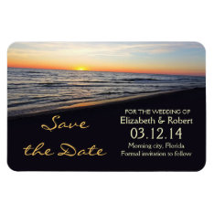 Beach Wedding Save The Date Magnets at Zazzle