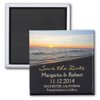 beach wedding save the date magnets