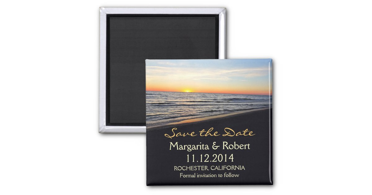 beach wedding save the date magnets – Beach Wedding Save the Date Magnets