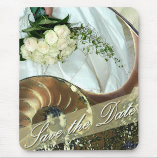 Beach Wedding Save the Date Mouse Pad