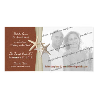 Beach Wedding Save the Date Photo Customized Photo Card