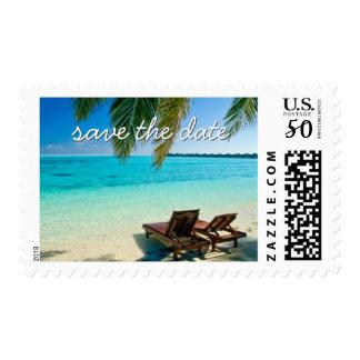 Beach Wedding - Save the date Postage