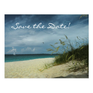 Beach Wedding Save-the-Date Postcard