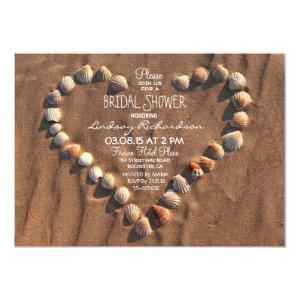 beach wedding sea shells bridal shower invitation 5