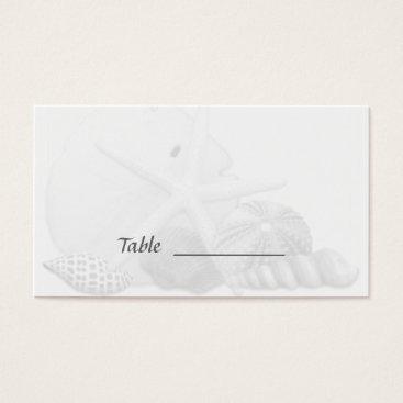 Beach Themed Beach Wedding Seashell Escort Seating Cards