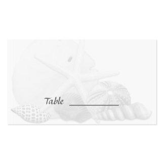 Beach Wedding Seashell Escort Seating Cards Business Card