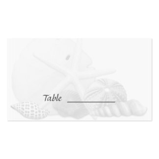 Beach Wedding Seashell Escort Seating Cards Double-Sided Standard Business Cards (Pack Of 100)
