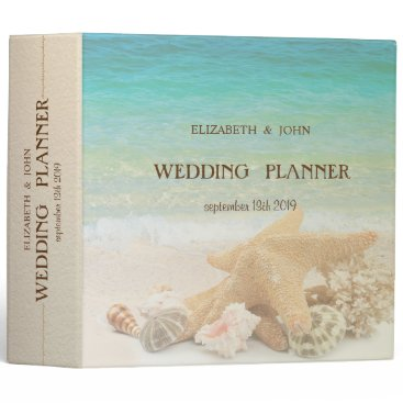 Beach Wedding Seashells Binder