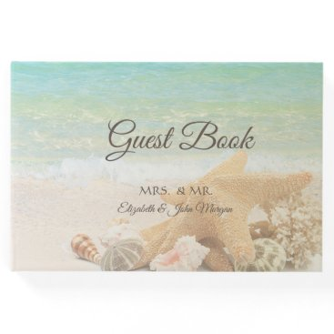 Beach  Wedding Seashells Guest Book
