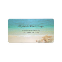 Beach Wedding Seashells  Wedding Label