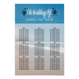 Beach Wedding Seating Charts