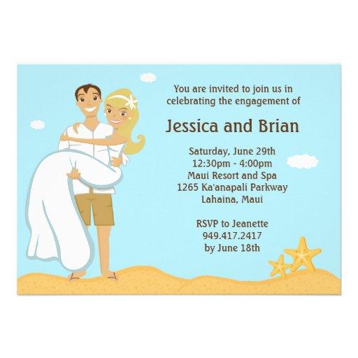 Beach Wedding Shower Invitation 5 X 7 Invitation Card