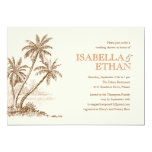 "Beach Wedding Shower Invitations 5"" X 7"" Invitation Card"