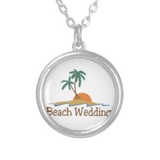 Beach Wedding Silver Plated Necklace