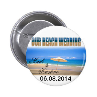Beach Wedding Souvenirs and Giveaways Buttons
