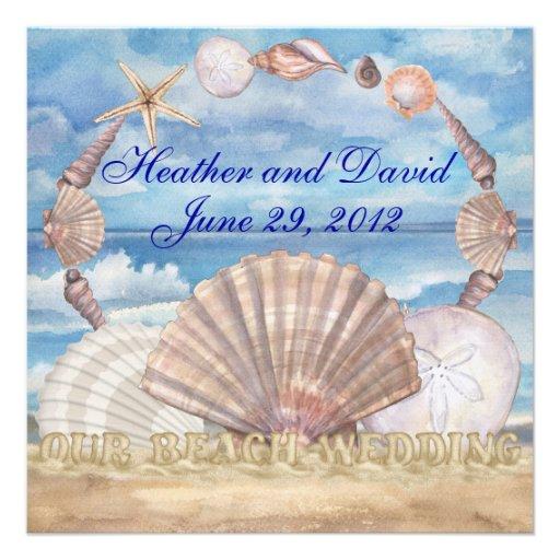 Beach Wedding - SRF Invitation