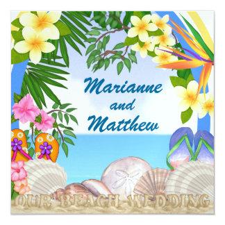 Beach Wedding - SRF Custom Invitations