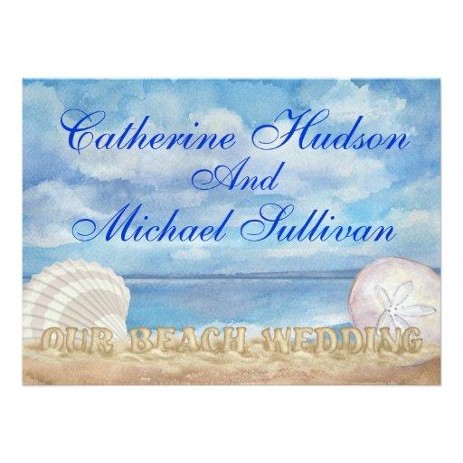 Beach Wedding - SRF Personalized Invitation