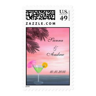 Beach Wedding Stamp
