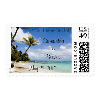 Beach Wedding Stamps