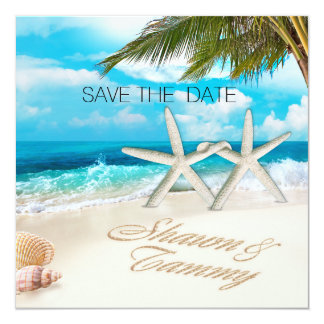 Beach Wedding Starfish ASK FOR YOUR NAMES IN SAND Card