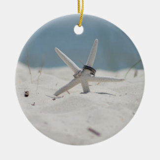 Beach Wedding Starfish Ceramic Ornament